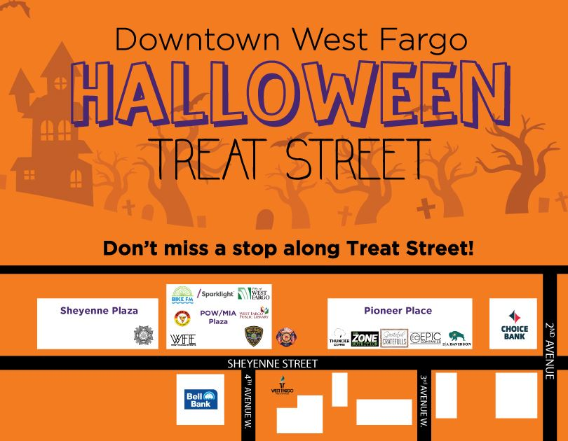 Halloween Treat Street Map