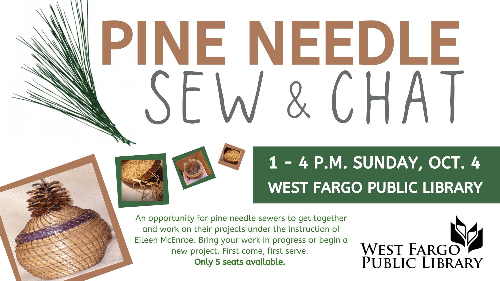 Pine Needle Sew and Chat