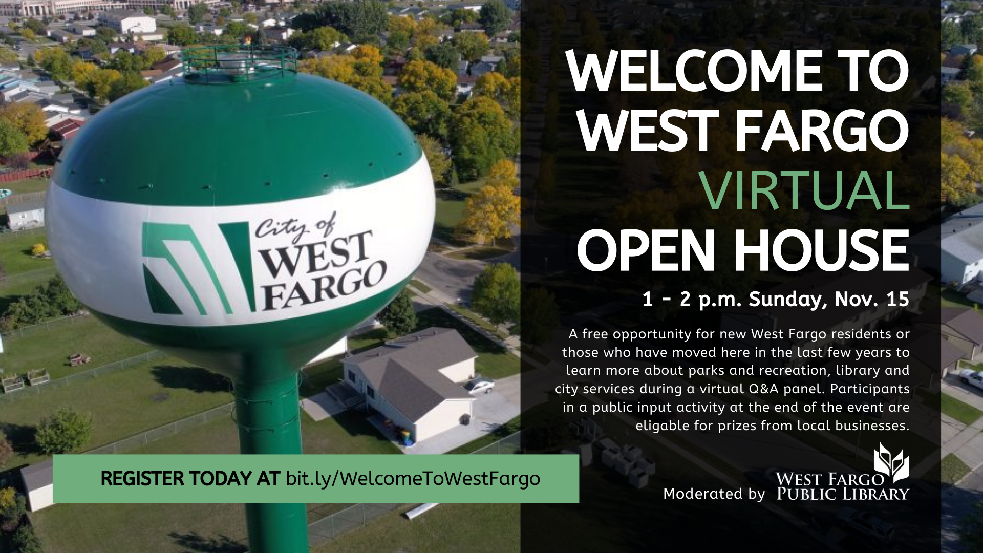 Welcome to West Fargo Virtual Open House Graphic